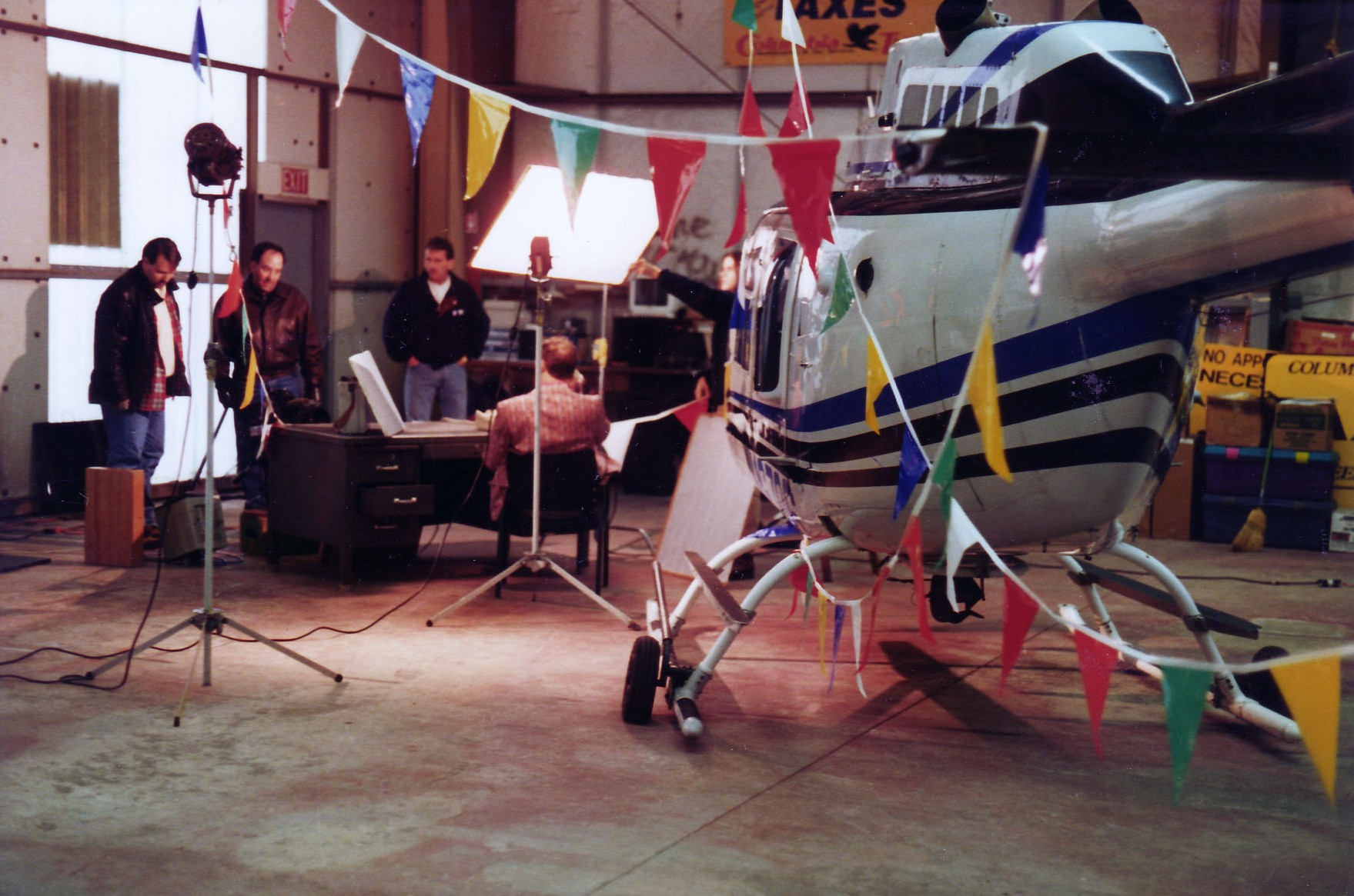 Behind the scenes of a KGW helicopter promo shoot