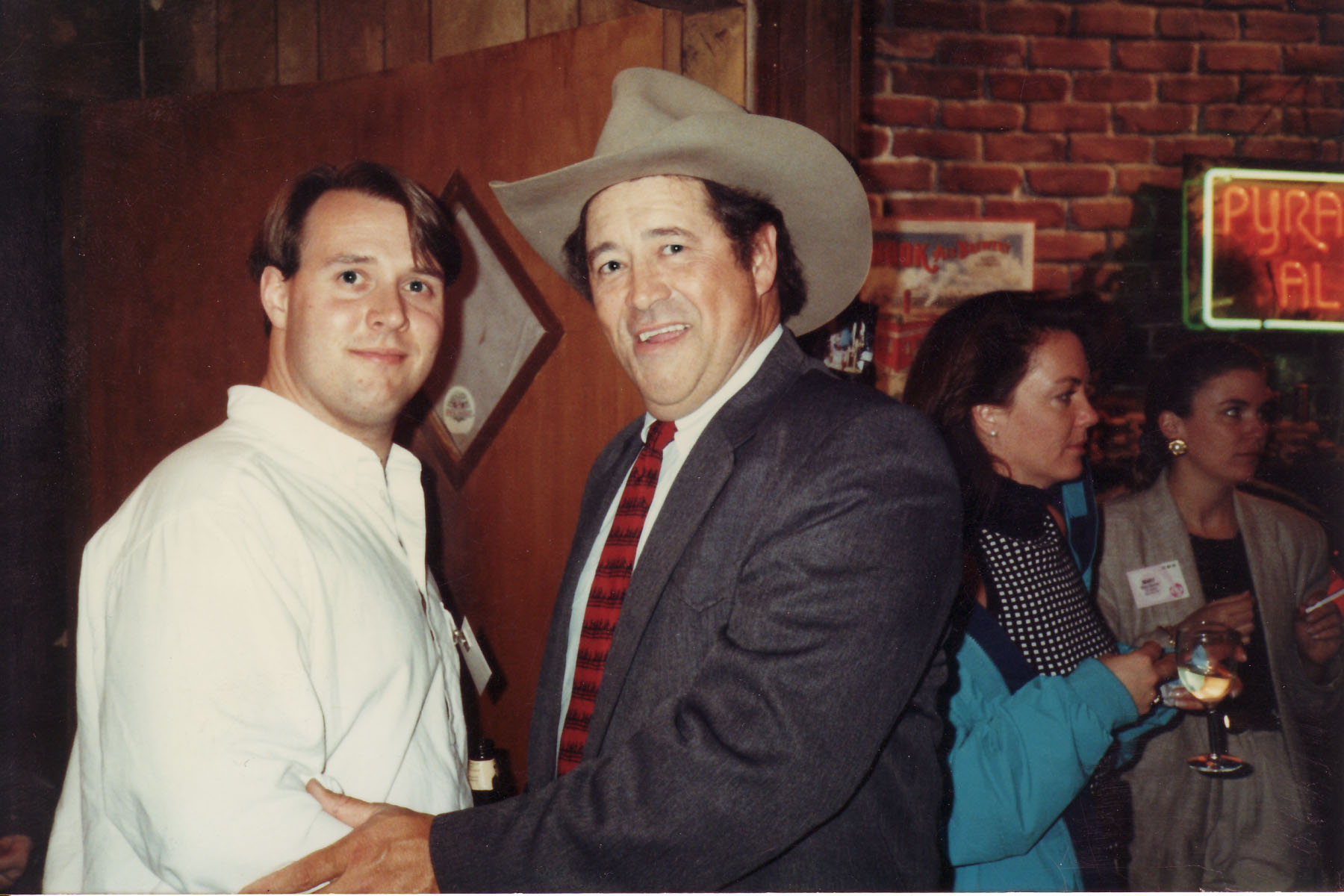 Dave Spraker with actor Barry Corbin
