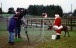 Promo shoot with Santa and one of his reindeer with Dave Spraker and Mike Galamanis